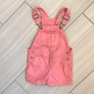 Gap pink short overalls 3T